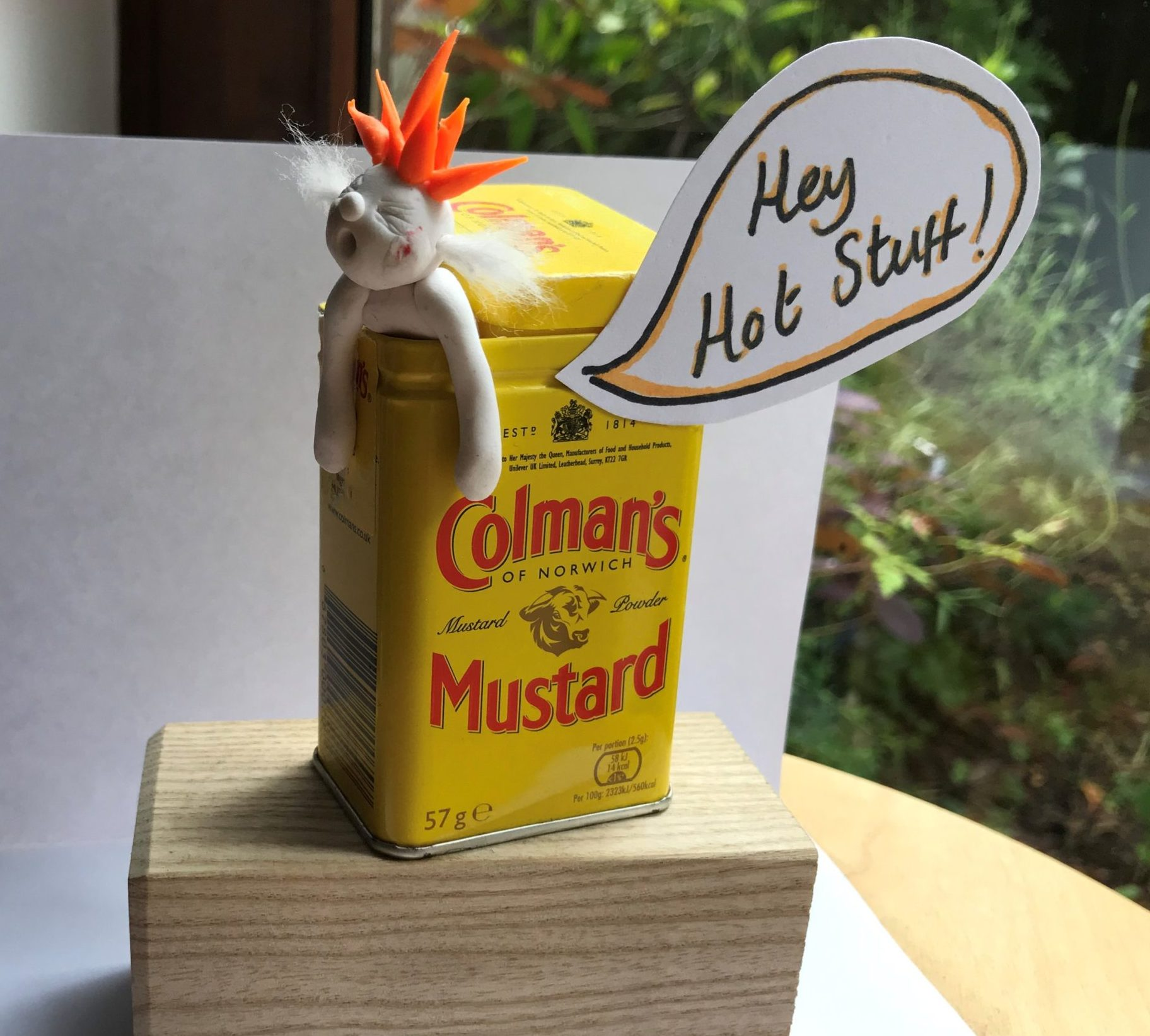 Mustard man scuplture!