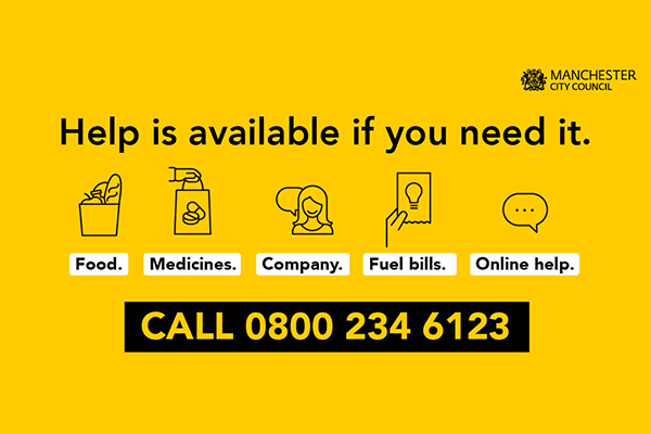 Manchester City Council COVID-19 Emergency Helpline